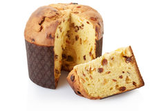 Panettone, bolo do Natal fotografia de stock royalty free