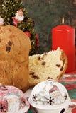 Panettone - bolo italiano do xmas imagens de stock royalty free