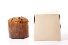 Panettone and box Stock Photography