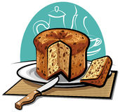 Panettone cake Royalty Free Stock Photos