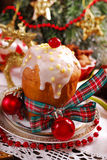 Panettone cake for christmas Royalty Free Stock Photos
