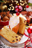 Panettone cake for christmas Royalty Free Stock Images