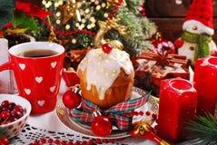Panettone cake for christmas Stock Image