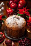 Panettone cake for Christmas Royalty Free Stock Image