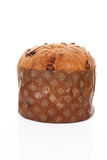 Panettone cake on white background. Royalty Free Stock Image