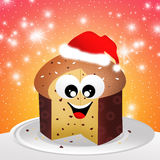Panettone cartoon Stock Image