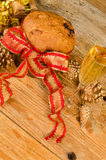Panettone and champagne still life Royalty Free Stock Photo