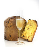 Panettone with champagne Royalty Free Stock Photography