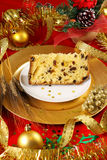 Panettone christmas cake Royalty Free Stock Photography