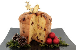 Panettone Christmas Cake Royalty Free Stock Photo