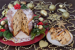 Panettone Christmas Cake stock images