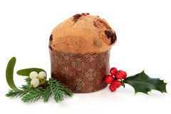 Panettone Christmas Cake Royalty Free Stock Photos