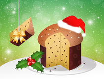 Panettone at Christmas Royalty Free Stock Images