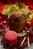 Panettone on christmas table Royalty Free Stock Photography