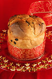Panettone de Italiaanse cake van Kerstmis Royalty-vrije Stock Fotografie