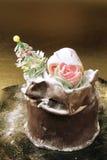 panettone di natale della torta Fotografia Stock Libera da Diritti