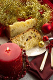 Panettone on dish Stock Photo