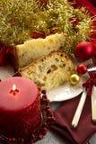 Panettone on dish Stock Photo