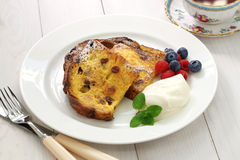Panettone french toast. Christmas leftover Stock Images