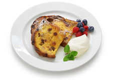 Panettone french toast. Christmas leftover Stock Photos