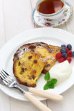 Panettone french toast. Christmas leftover Royalty Free Stock Photos