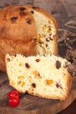 Panettone fruit cake. Royalty Free Stock Image