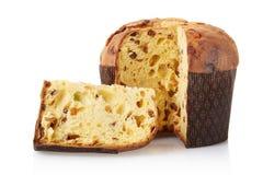 Panettone, gâteau italien de Noël photographie stock libre de droits