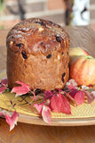 Panettone. Holiday Bread. Stock Photo