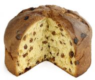 Panettone - italian christmas royalty free stock photo