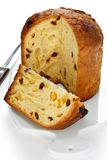 Panettone, italian christmas bread Royalty Free Stock Image