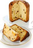 Panettone, italian christmas bread Stock Photos