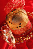 Panettone the italian Christmas cake Royalty Free Stock Photo