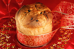 Panettone the italian Christmas cake Stock Images