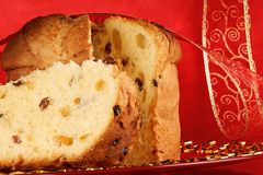 Panettone the italian Christmas cake royalty free stock images