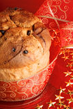 Panettone the italian Christmas cake Stock Photos