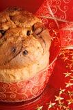 Panettone the italian Christmas cake stock photos