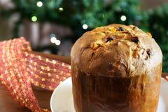 Panettone italian christmas cake Stock Photo
