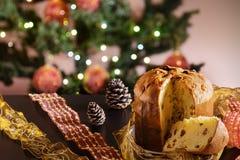 Panettone italian christmas cake Royalty Free Stock Images