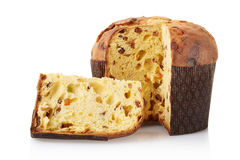 Panettone, italian Christmas cake Royalty Free Stock Photography