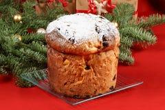 Panettone the italian Christmas fruit cake stock images