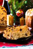 Panettone italian typical christmas cake Stock Photography