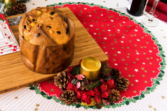 Panettone italian typical christmas cake stock photos