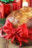 Panettone-italienischer Weihnachtskuchen Lizenzfreies Stockfoto