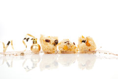 Panettone. Luxurious christmas food background. Stock Photography