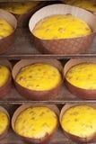 Panettone nel forno Fotografie Stock