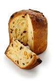Panettone, pão italiano do Natal fotografia de stock