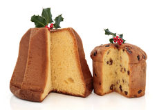 Panettone and Pandoro Cakes Royalty Free Stock Image