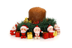 Panettone with Santa Claus stock image