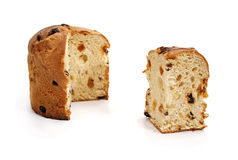 Panettone and slice Royalty Free Stock Photos