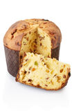 Panettone and slice Royalty Free Stock Images